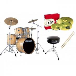 Yamaha Stage Custom Acoustic DrumSet Natural Wood