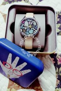 Authentic Fossil Nature design leather watch