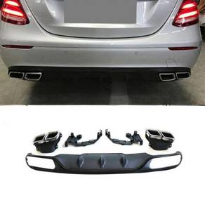Benz W213 e63 amg rear diffuser n tips bodykit