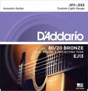 DAddario EJ13 80/20 Bronze Acoustic Guitar String