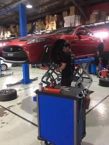 Jaguar engine repair rebuilt MOBIL 1 service