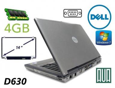 Dell Latitude D630 C2D Serial RS232 4GB W7 Laptop