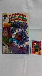 Captain America #424 Feb. Marvel plusTrading card
