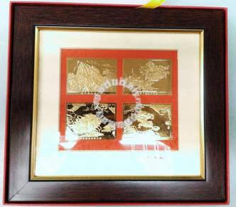 China Gold Plated Stamp with standing frame