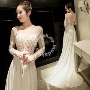 White wedding bridal bridesmaid prom dress RB0312