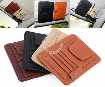 Multipurpose Leather Car Sun Visor Organizer