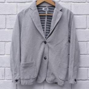 Size S MBC WOMAN Blazer Grey Pit 17 x 25.5 in