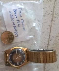 Timex manual kunci with deep gold plating