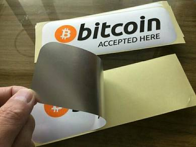 Sticker bitcoin