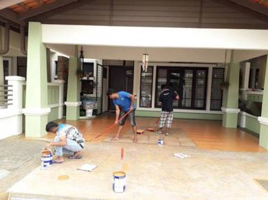 Painting £ cat rumah cuic wiring tiles polish£