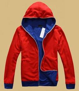 3434 Sweater Hooded Red Blue Dual Side Men Jacket