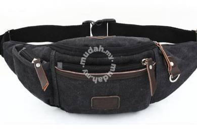 Trooper Pouch Sport Chest Men Waist Bag (Black)