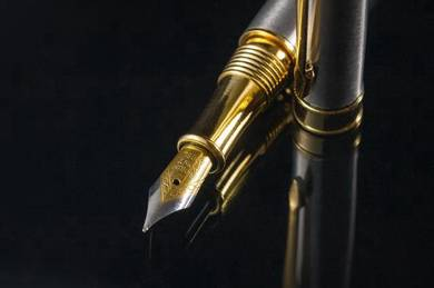 Antique Fountain pen, stainless, iridium nib