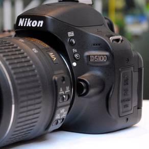 Nikon d5100 full set dapat 3 lens