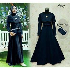 Karena maxi dress long sleeve Muslimah