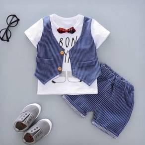 2 Pcs Short Sleeve & Pants Boy Set
