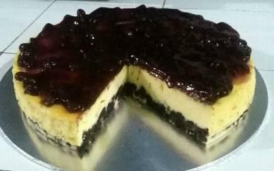 Kek bluebrrry cheese oreo