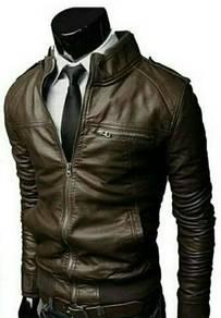 Jacket kulit slim untuk lelaki