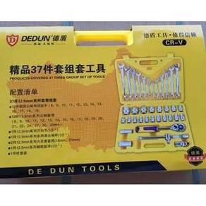 Dedun 37pcs Socket Ratchet Wrench Automobile Tools