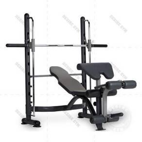 Smith machine c/w bench + leg extension + precher