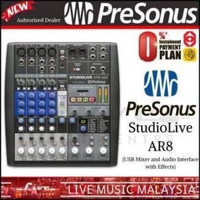 PreSonus StudioLive AR8 USB Mixer & Audio (AR-8)