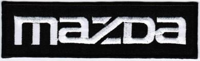 Mazda Car Company Racing Text Logo Badge Patch