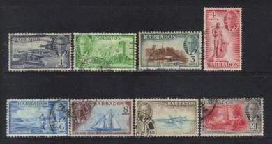 BARBADOS 1950 KGVI stamps CAT 20+ BK904