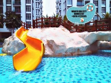 Wahyu bm city swimming pool homestay