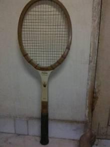 Wooden tennis raket made in USA