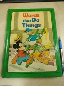 Vintage walt disney Hard cover book like kamus