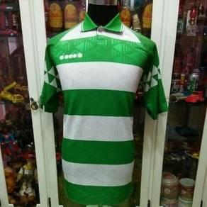 Vintage Malaysia Item Diadora Green Stripe Jersey