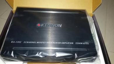 Kennon 2channel power amp 2200watts