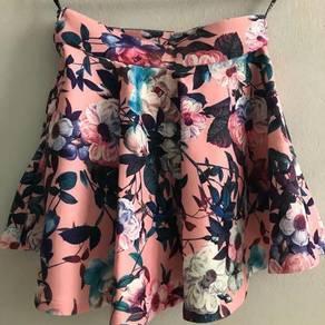 Flower printing skirt