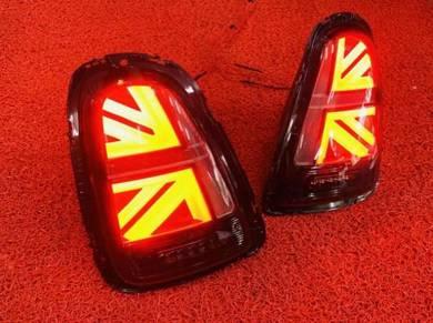 Mini cooper f55 f56 union jack led tail light lamp