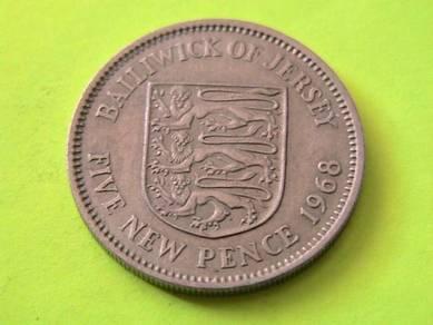 Bailiwick of Jersey 5 Pence 1968
