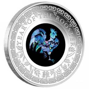 Opal 2017 Rooster 1oz Silver Proof Coin