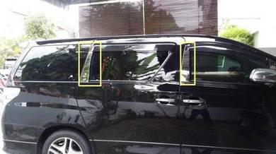 Toyota vellfire alphard chrome window pillar 8pcs