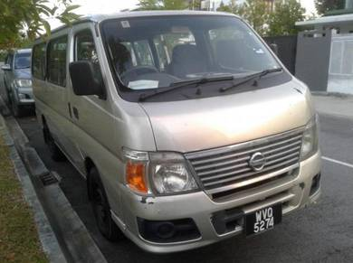 Nissan urvan 14 seater