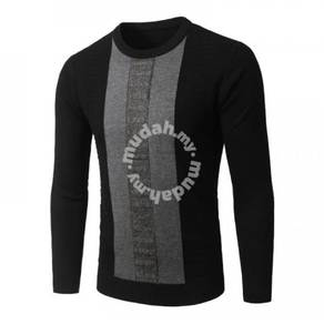 6430 Fit Mix Color Crew Neck Long Sleeved Sweater