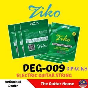ZIKO DEG-009 (3 Pack) Electric Guitar Strings