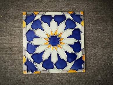 Wall Tile Star Moroccan Geometric Symmetry,