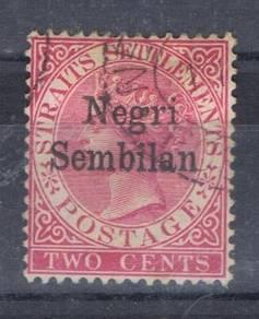 MALAYA NS QV 1891 Ovpt 2c SG 1 Fine Used BK233