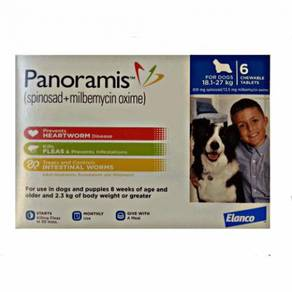Panoramis Heartworm, Flea, Intestinal Worm Tablets
