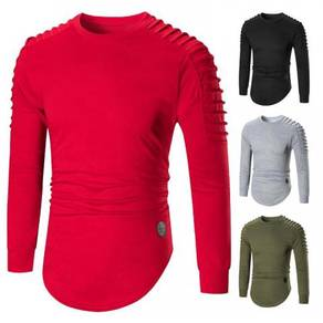 8437 Round Neck Solid Colors Slim Fit Sweater