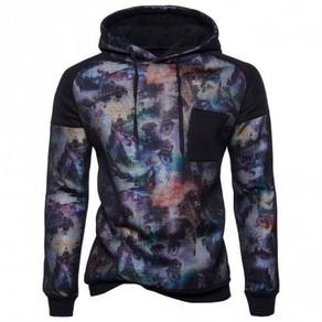 8580 Stitching Graphic Colors Hooded Sweater