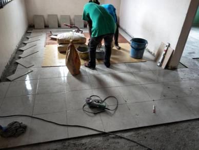 Pemasangan Tiles Baru Satu Rumah