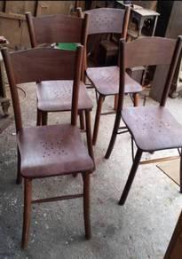 Cengal Kopitiam Vintage Chair kerusi kayu perabot