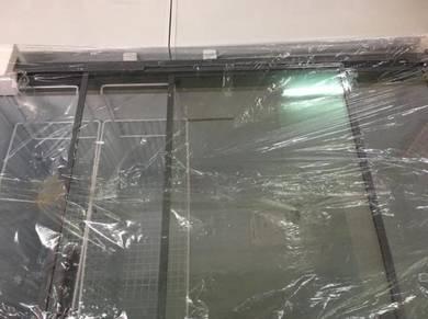 Snow sliding glass freezer 430L new