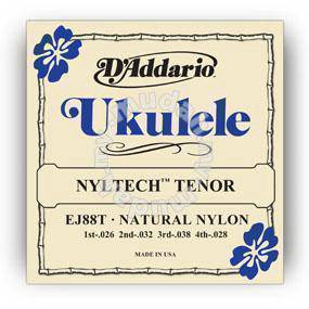 D'Addario EJ88T Nyltech Ukulele, Tenor