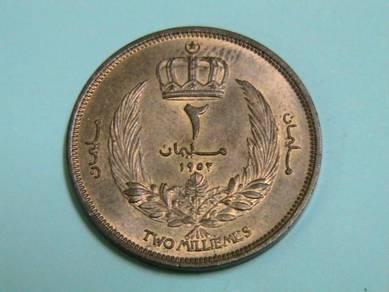 Libya 2 Milliemes 1952 (AU)